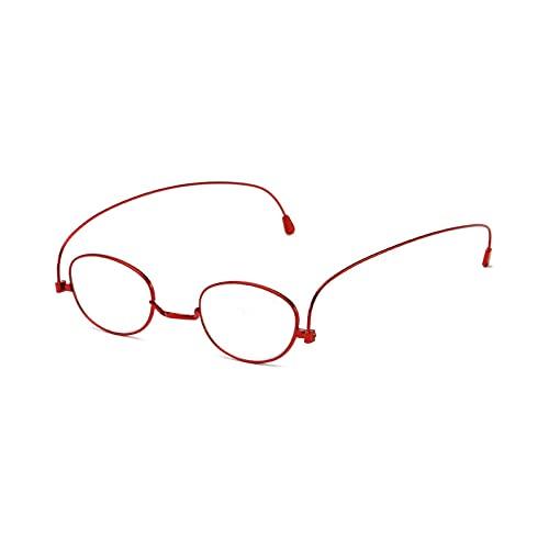 Gafas de lectura para hombres Gafas de lectura Gafas de lectura para mujeres Juegos de computadora elegante metal rojo +2.5