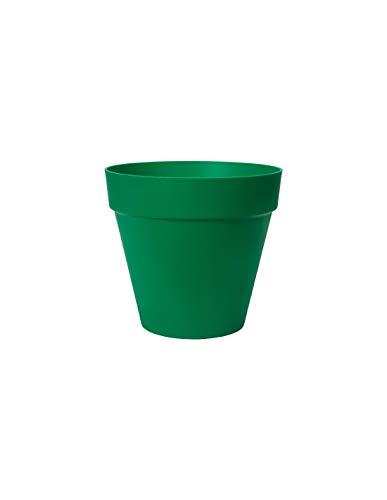 Elho Loft Urban - Vaso da fiori rotondo, 20 cm, colore: Verde