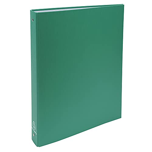 Exacompta 51373E - Carpeta con 4 anillas, A4, color verde, pack de 2