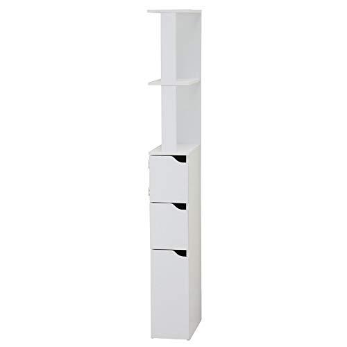 Selsey Carinda – Badregal/Badezimmer Regal MDF Board Weiß 136 x 15.2 x 33 cm