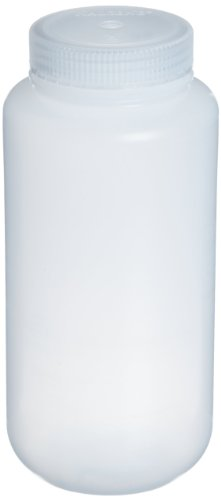 Nalgene 2103-0008 Wide-Mouth Bottle, LDPE, 250mL (Pack of 12)