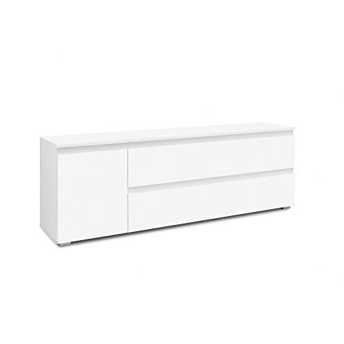 DEINE TANTE EMMA 002629 Image 17 Weiß TV Board Lowboard Fernsehkommode HiFi Stauraum Wohnzimmer ca. 160 x 55 x 40 cm