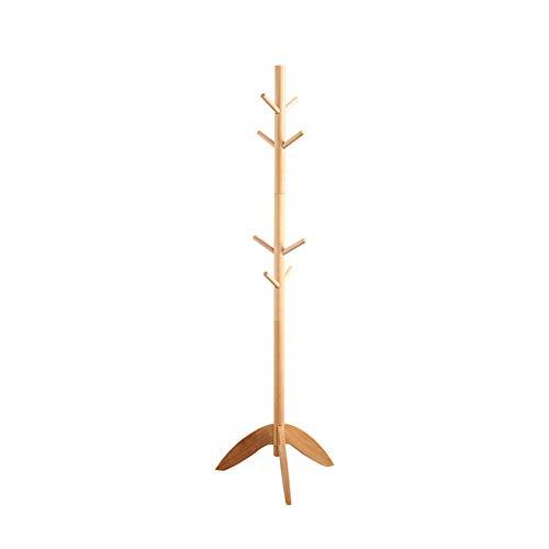WZLJW Schlafzimmer Hanger Bodendecken-kleiderbügel Einfach Zu Montieren Der Baum Kleiderständer Für Kleidung Hut Das Paket,Massivholz Kleiderbügel-Holz 175x45cm