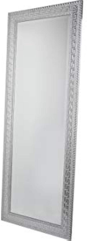 Dekonaz  Luxus  Wandspiegel  Deko-Spiegel  XL  53 x 146 x 2 cm  Silber  Mit verziertem Rand
