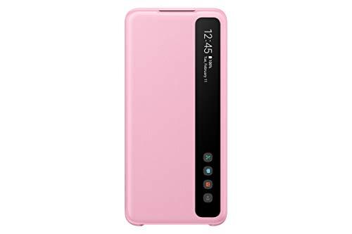 Samsung Clear View Smartphone Cover EF-ZG980 für Galaxy S20 | S20 5G Flip Cover, Handy-Hülle, extra-dünn, stoßfest, Schutz Case, pink