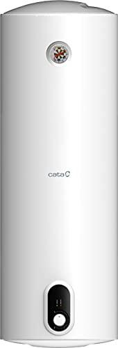 Cata | Termo eléctrico 80 L | Calentador de agua modelo CTRH-80-REV | Instalación horizontal y vertical | Tanque esmaltado al titanio vitrificado a 850° C | 1030 x 385 x 385 mm