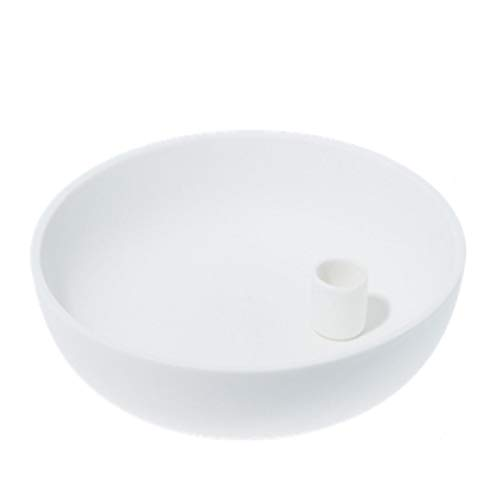 Storefactory - Lindatorp - Kerzenständer, Kerzenschale - Keramik - Weiß - Maße (ØxH): 26 x 7 cm