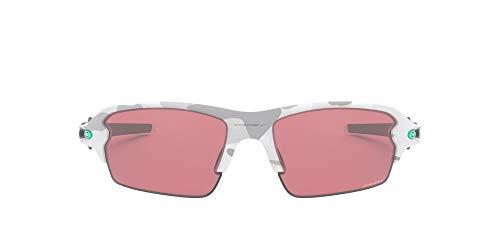 Oakley Men's OO9271 Flak 2.0 Asian Fit Rectangular Sunglasses, Multicam Alpine/Prizm Dark Golf, 61 mm