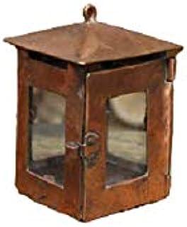 Lanterna in rame lampada piccola quadrata fatta a mano