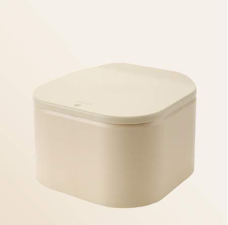 Cttiuliljt 5 Farben Mini Trash Can Zero Waste Küchenpapierkorb Auto Mülleimer Desktop-Mülltonne aus Kunststoff Abfallbehälter Müllbehälter Mülleimer (Color : Yellow)