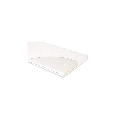 Pinolino 500060 Luna Up - Colchón para cuna (tamaño pequeño, 120 x 60 cm, 2,13 kg), color blanco