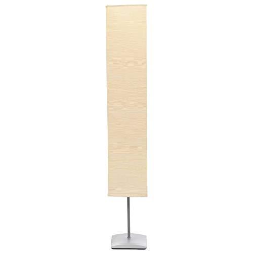 vidaXL Stehlampe mit Stahlständer 135cm Papier Standleuchte Leselampe Stehleuchte Bodenlampe Beige