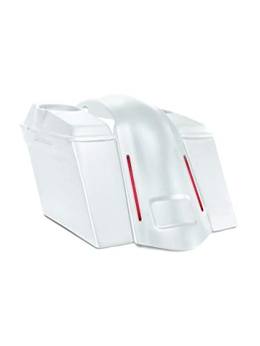 Best Prices! Harley Davidson 4 extended stretched saddlebags and LED fender kit no cut outs + 6.5#1...