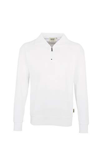 HAKRO Zip-Sweatshirt, weiß, Größen: XS - XXXL Version: XXXL - Größe XXXL