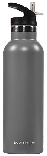BalanceFrom Double-Wall Vacuum Insulated Stainless Steel Water Bottle,...