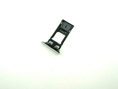 Simkarten Halter Holder für Sony Xperia XZ F8331 SIM Speicherkarten Silber Original - 1304-9104