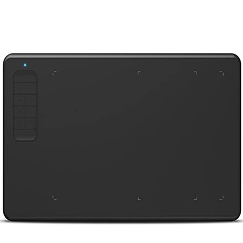 Crimper Tableta gráfica de 10x6 Pulgadas Tableta de Dibujo de 12 Teclas Tableta de Dibujo Digital de presión de 8192 Niveles con lápiz óptico sin batería Compatible con Windows Mac Android