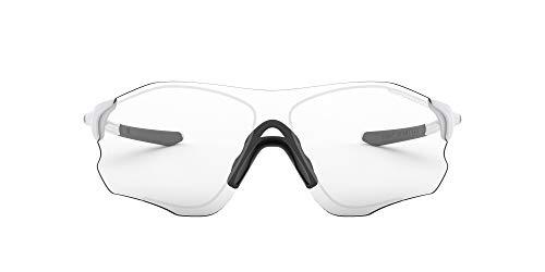 Oakley Mens EVZero Path Asian Fit Sunglasses, Matte White/Clear Black, One Size