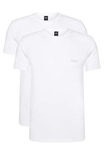 BOSS T-Shirt RN 2p Co/el Camiseta, Blanco (White 100), Large (Pack de...