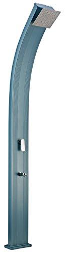 Steinbach Speedshower Slim Line Deluxe Solardusche, Blau/Silber, 25 x 13,5 x 225 cm