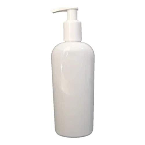 HOPEMOB 10 Piezas Envase Blanco Pet 250ml Oval Con Dosificador Rellenable Gel Crema Limpieza Hogar Envase Dispensadores de shampoo/jabón Botellas dispensadoras Envase con Bomba...