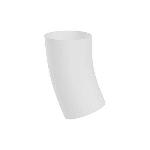PREFA Fallrohrbogen DN100 / 40 Grad Weiß