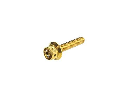 M5×30mm フラワー ヘッド ボルト ステンレス 削り出し フランジボルト カウルやエンジンなどに ゴールド TB0481