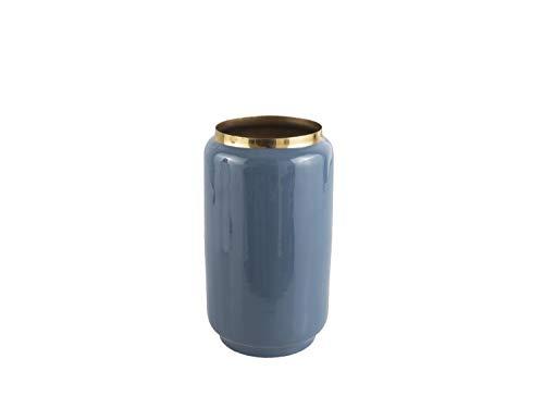 PT Vase Flare Eisen Emaille blau, D. 15 cm, H. 25 cm