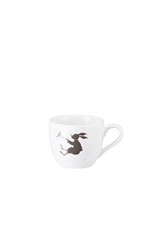 Hutschenreuther Hase 0, 07 l Espresso-Obertasse, Porzellan, Weiß, 11 x 11 x 7 cm