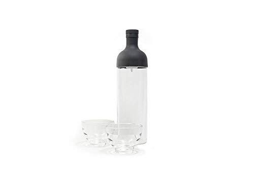 Hario FIHU-2012-B-EX Teekanne, Glas, Schwarz