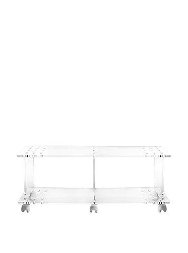 Iplex Design Imago TV houder met wielen, plexiglas/PMMA, transparant