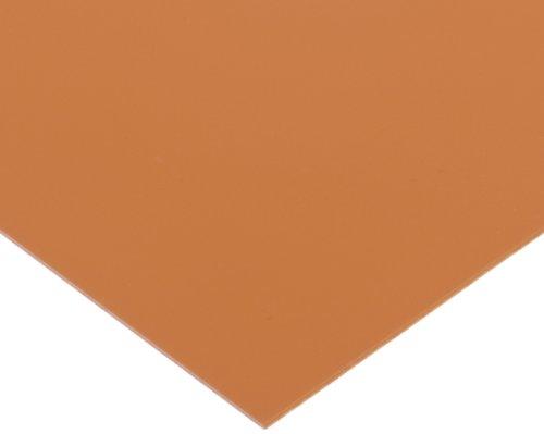 PVC (Polyvinyl Chloride) Shim Stock, Flat Sheet, Coral, 0.030