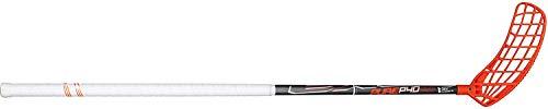 EXEL Floorball Schläger/Unihockey Stock Pure P40, Grey/White/ORANGE, mit IFF Zertifizierung (für Rechtshänder, Rechte Hand Oben am Schläger, sogenannter Linksausleger, Schaftlänge 65 cm)