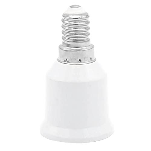fregthf E14 a E27 zócalo del convertidor LED Bombillas Tornillo Adaptador Inteligente de Ahorro de energía del Bulbo de la lámpara de Calor Resistente del Adaptador del zócalo Blanca