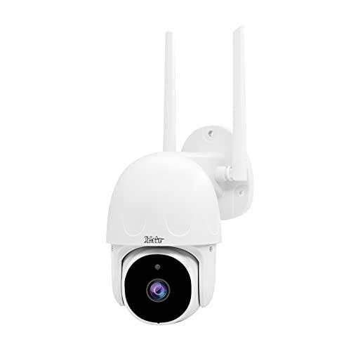 1080P PTZ WiFi Kamera Alexa Tuya Smart Kamera System,Außen überwachungskamera WLAN 355°/90° drehbar,Automatische Verfolgung,Zwei-Wege-Audio,30m Nachtsicht,IP66,128G sd-kartensteckplatz