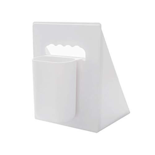 YYLL Felicitación de Color sólido de Dos Piezas, con Soporte de Libro Simple retráctil de bolígrafo, Fuerte Carga de carga-4kg (Color : White)