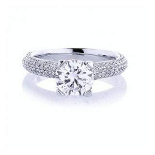 Anello di fidanzamento con vero diamante solitario da 1,50 carati, in oro bianco massiccio 14 K 18 K, per anniversario e matrimonio e Oro bianco, 57 (18.1), colore: bianco, cod. P-LRN-1718-WR-18K-P