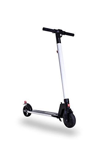 Gotrax TT-EL-601 Blanco-Negro Patin ELECTRICO para niños/as, Potencia Motor 200W, Velocidad Maxima 25km, Autonomía 12km, Tiempo de Carga 2-3 Horas