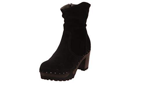 Softclox S3238 O-Bootie Kaschmir - Damen Schuhe Stiefel - 03-schwarz, Größe:38 EU