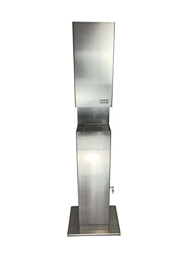 Desinfektionssäule sensorgesteuert, Hygienestation aus Edelstahl mit Standfuß, bis 10l Füllmenge