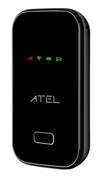 ATEL Arch W01 4G LTE Mobile Hotspot for on-The-go WiFi - Black - 3000mAh Battery