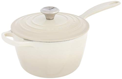 Le Creuset Enameled Cast Iron Signature Saucepan, 2.25 qt., Meringue