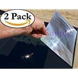 """2 Pack - 8.3"""" x 11.75"""" Large Premium Grade Fresnel Lens Unbreakable Full Page Magnifier - Fire Starter • Solar Oven • DIY Projection TV Plans Classroom • Outdoor EDC Survival Kit Bushcraft"""