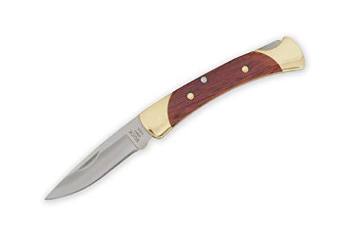 Buck Knives The 55 Mini 110 Folding Hunter Locking Pocket Knife, Rosewood Handle, 2 3/8-Inch Drop Point Blade, 0055RWSSH