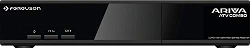 Ferguson Ariva ATV Combo | Combo Receiver | H.265 | DVB S2 | DVB T2 | UHD | Android TV | Untertitel-Unterstützung | 4K | HDMI | WiFi
