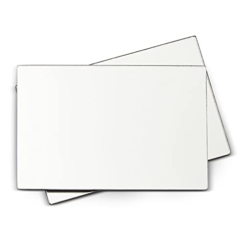 2 Pack Magnetic Locker Mirrors, Acrylic Small Plastic Mirror (4x6 in)