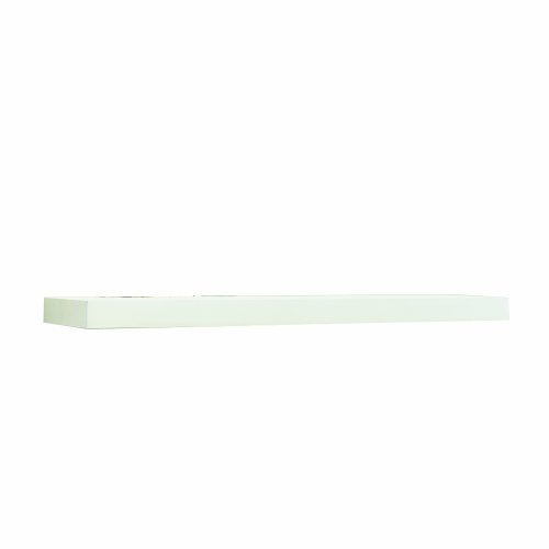 InPlace Shelving 0191828 Floating Wall Mountable Shelf with Invisible Brackets, White, 23.3-Inch Wide by 10.2-Inch Deep by 2-Inch High