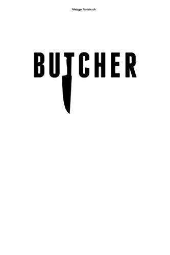 Metzger Notizbuch: 100 Seiten | Kariert | Beruf Metzgerei Metzgerin Schlachter Metzger Fleischer Arbeit Fleisch Fleischerei