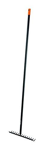 Fiskars Rechen mit 14 Zinken, Breite: 36 cm, Gehärtete Karbonstahlzinken/Aluminiumstiel, Schwarz/Orange, Solid, 1016036 - 3