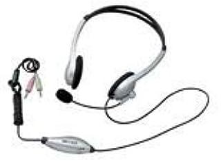 iBUFFALO ヘッドセット ヘッドバンドタイプ 両耳 シルバー YDMHH01SVA